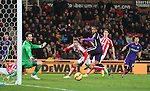 Fernando of Manchester City sends him shot just wide of the post - Barclays Premier League - Stoke City vs Manchester City - Britannia Stadium - Stoke on Trent - England - 11th February 2015 - Picture Simon Bellis/Sportimage