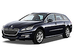 Front three quarter view of 2012 Peugeot 508 SW Allure Wagon Stock Photo