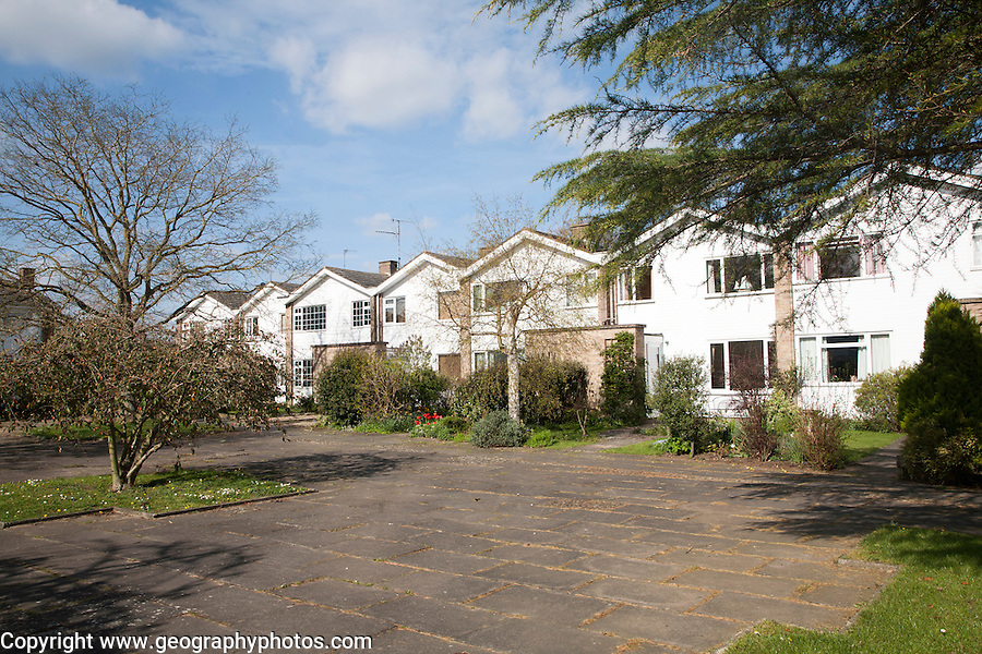 Private housing on suburban housing estate in Woodbridge, Suffolk, England