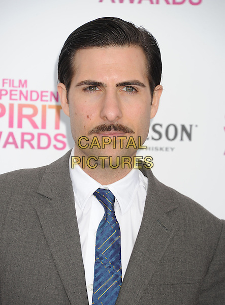 Jason Schwartzman.2013 Film Independent Spirit Awards - Arrivals Held At Santa Monica Beach, Santa Monica, California, USA,.23rd February 2013..indy indie indies indys headshot portrait grey gray white blue moustache mustache facial hair suit shirt .CAP/ROT/TM.©Tony Michaels/Roth Stock/Capital Pictures