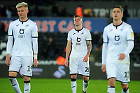 Ben Wilmot of Swansea City looks deject at full time during the Sky Bet Championship match between Swansea City and Millwall at the Liberty Stadium in Swansea, Wales, UK. Saturday 23rd November 2019