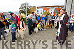 the blessing of the animals in the Friary on Sunday