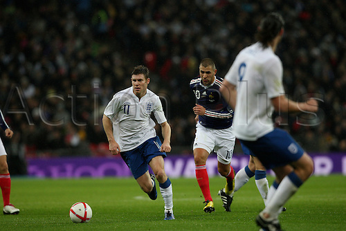 17.11.2010 James Miller International Friendly from Wembley England v France.