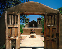 Historic mission at Santuario de Chimayo on the High Road to Taos, NM