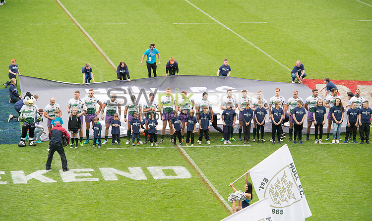 Picture by Allan McKenzie/SWpix.com - 20/05/2017 - Rugby League - Dacia Magic Weekend - St James' Park, Newcastle, England - The brief, Mascots.