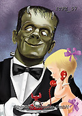 Fabrizio, Comics, CUTE ANIMALS, LUSTIGE TIERE, ANIMALITOS DIVERTIDOS,Frankenstein, paintings+++++,ITFZ57,#AC#, EVERYDAY ,humor