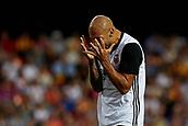 1st October 2017, Mestalla, Valencia, Spain; La Liga football, Valencia CF versus Athletic Bilbao; Simone Zaza of Valencia CF reacts after missing a chance;