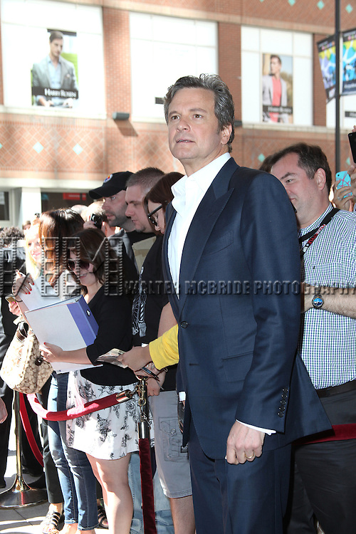 Colin Firth attending the The 2012 Toronto International Film Festival Red Carpet Arrivals for 'Arthur Newman' at the Elgin Theatre in Toronto on 9/10/2012