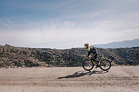 Caleb Ewan (AUS/Michelton-Scott) on a surprise gravel section along the way<br /> <br /> Michelton-Scott training camp in Almeria, Spain<br /> february 2018