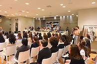 A breakfast panel discussion at the Ann Taylor Rockefeller Center store.