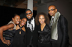 """Deb Koenigsberger (chair), Rhonda Ross (Another World), B. Michael (fashion designer), Tamara Tunie, Mark Anthony at The Fourteenth Annual Hearts of Gold Gala """"Hooray for Hollywood!"""" - with its mission to foster sustainable change in lifestyle and levels of self-sufficiency for homeless mothers and their children on October 28, 2010 at the Metropolitan Pavillion, New York City, New York. (Photo by Sue Coflin/Max Photos)"""