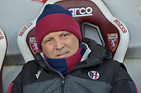 12th January 2020; Olympic Grande Torino Stadium, Turin, Piedmont, Italy; Serie A Football, Torino versus Bologna; Sinica Mihajlovic, the coach of Bologna FC relaxes in the dugout - Editorial Use