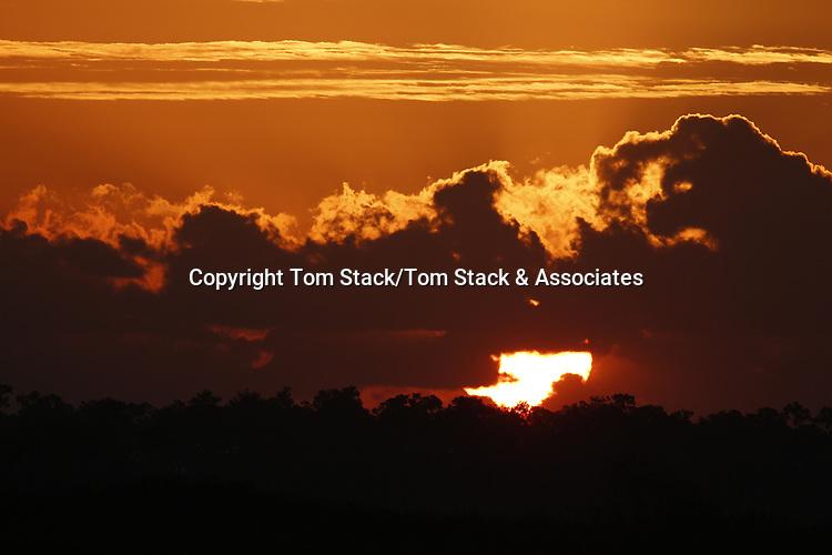 A dramatic sunrise over Everglades National Park, Florida