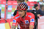 Race leader Red Jersey Nicolas Roche (IRL) Team Sunweb crosses the finish line at the end of Stage 4 of La Vuelta 2019 running 175.5km from Cullera to El Puig, Spain. 27th August 2019.<br /> Picture: Eoin Clarke | Cyclefile<br /> <br /> All photos usage must carry mandatory copyright credit (© Cyclefile | Eoin Clarke)