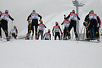 HOLMENKOLLEN, OSLO, NORWAY - March 16: Forerunners during the cross country 15 km (2 x 7.5 km) competition at the FIS Nordic Combined World Cup on March 16, 2013 in Oslo, Norway. (Photo by Dirk Markgraf)