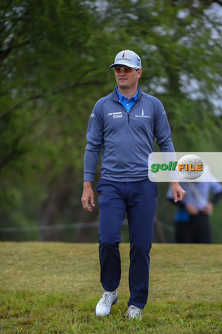 Zach Johnson (USA) makes his way down 2 during Round 3 of the Valero Texas Open, AT&T Oaks Course, TPC San Antonio, San Antonio, Texas, USA. 4/21/2018.<br /> Picture: Golffile | Ken Murray<br /> <br /> <br /> All photo usage must carry mandatory copyright credit (© Golffile | Ken Murray)