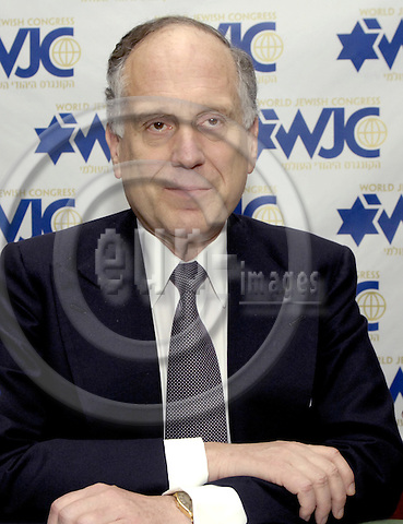 Brussels-Belgium - 26 June 2007---Ronald S. LAUDER, international philanthropist, investor, art collector, public servant and President of the Jewish National Fund, was elected President of the World Jewish Congress (WJC) on 10 June 2007---Photo: Horst Wagner/eup-images