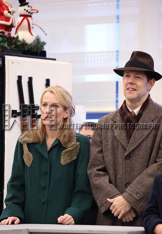 John Bolton and Erin Dilly performing in the Press Preview  for 'A Christmas Story, The Musical' at the New 42nd Street Studios on 10/22/2012 in New York City.