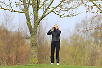 Rikke Nordvik (NOR) on the 1st during Round 1 of the Irish Girls U18 Open Stroke Play Championship at Roganstown Golf &amp; Country Club, Dublin, Ireland. 05/04/19 <br /> Picture:  Thos Caffrey / www.golffile.ie