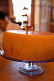 USA, California, Sonoma, a wheel of cheese at The Girl and the Fig restaurant