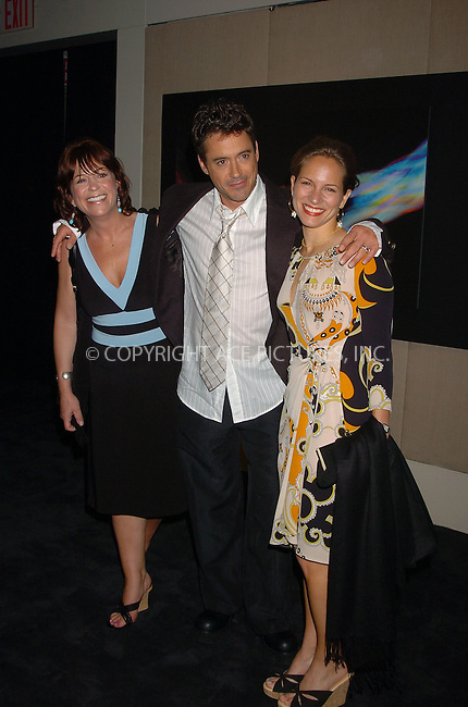 WWW.ACEPIXS.COM . . . . .  ....July 5, 2006, New York City. ....Robert Downey Jr. with wife Susan and Allyson Downey attend the screening of 'A Scanner Darky'.......Please byline: AJ Sokalner - ACEPIXS.COM..... *** ***..Ace Pictures, Inc:  ..(212) 243-8787 or (646) 769 0430..e-mail: info@acepixs.com..web: http://www.acepixs.com