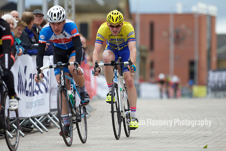 Pix: Shaun Flannery/shaunflanneryphotography.com<br /> <br /> COPYRIGHT PICTURE&gt;&gt;SHAUN FLANNERY&gt;01302-570814&gt;&gt;07778315553&gt;&gt;<br /> <br /> 31st May 2015<br /> Doncaster Cycle Festival 2015<br /> Under 16s Boys <br /> Sponsored by Polypipe