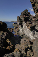 Volcanic rock pools, Los Abrigos, Tenerife, Canary Islands.