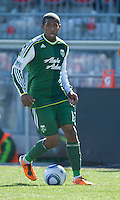 26 March 2011: Portland Timbers defender Jeremy Hall #17 in action during an MLS game between the Portland Timbers and the Toronto FC at BMO Field in Toronto, Ontario Canada..Toronto FC won 2-0....