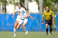2 October 2011:  FIU's Chelsea Leiva (2) moves the ball upfield in the second half as the FIU Golden Panthers defeated the University of South Alabama Jaguars, 2-0, at University Park Stadium in Miami, Florida.