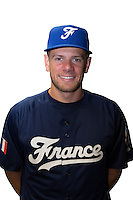 18 September 2012: Owen Ozanich poses prior to Team France practice, at the 2012 World Baseball Classic Qualifier round, in Jupiter, Florida, USA.
