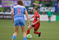 Portland, Oregon - Wednesday June 22, 2016: Portland Thorns FC defender Meghan Klingenberg (25) controls the ball during a regular season National Women's Soccer League (NWSL) match at Providence Park.