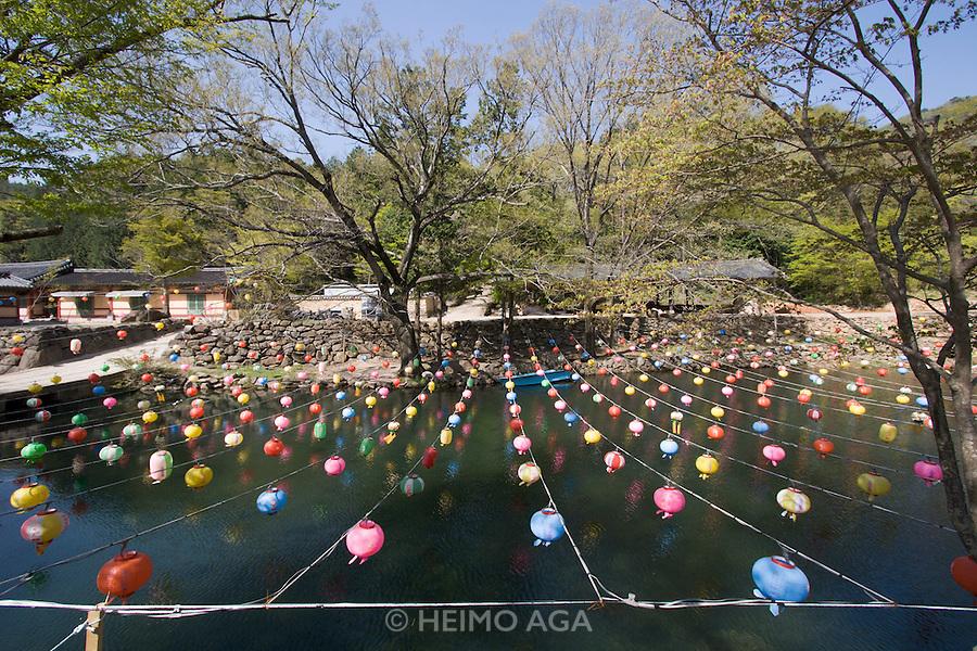 Songgwangsa temple. Lamps for Buddha's Birthday.