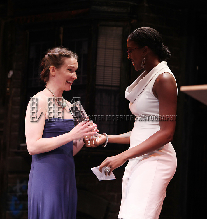 Keira Keeley & Condola Rashad during The 66th Annual Theatre World Awards at the World Stages, New York City. June 8, 2010