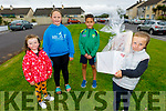 Attending the Comfort for Chemo balloon release fundraiser in Casements Avenue, Ardfert on Sunday evening. <br /> Front right: Evie McAuliffe<br /> Back l to r: Jessie McAuliffe, Katie O'Shea and Eamon Kirby.