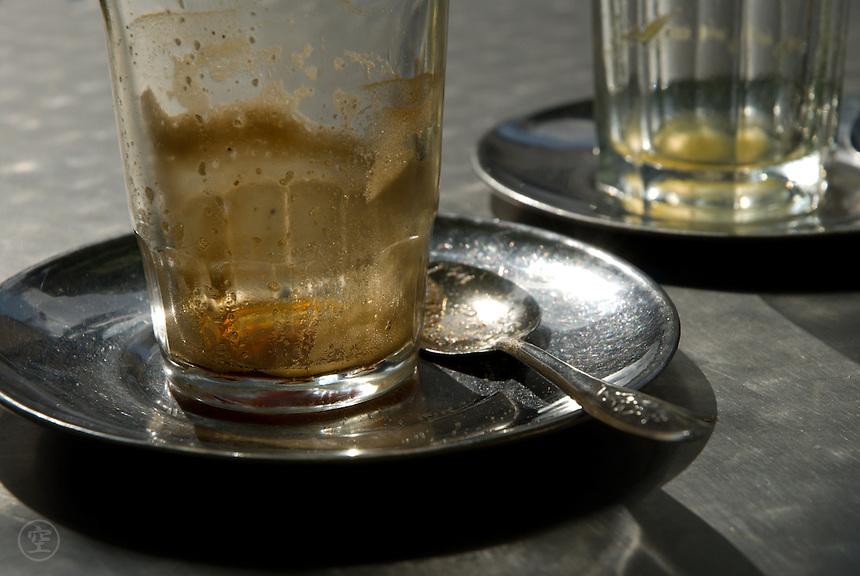 Empty coffee cups, Fez, Morocco