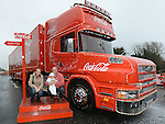 The Coca Cola truck at Southgate shopping centre. Photo:Colin Bell/pressphotos.ie