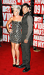 New York, New York  - September 13: Pink and Cory Hart arrive at the 2009 MTV Video Music Awards at Radio City Music Hall on September 13, 2009 in New York, New York.