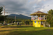 Information booth at the junction of Route 3 and Route 302 in the village of Twin Mountain in Carroll, New Hampshire during the summer months.