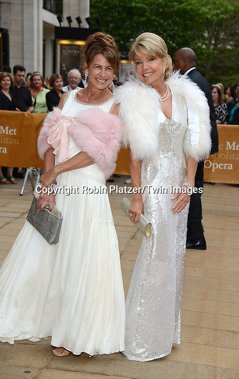 Kalliope Karella &amp; Christine Schwarzman attends the American Ballet Theatre's 75th Anniversary Spring Gala on May 18, 2015 at the Metropolitan Opera House in New York, New York, USA.<br /> <br /> photo by Robin Platzer/Twin Images<br />  <br /> phone number 212-935-0770