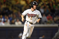 ***Temporary Unedited Reference File***Nashville Sounds second baseman Joey Wendle (13) during a game against the Iowa Cubs on May 3, 2016 at First Tennessee Park in Nashville, Tennessee.  Iowa defeated Nashville 2-1.  (Mike Janes/Four Seam Images)