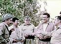 Irak 1988 <br /> In Yarsamar, from left to right, Mullazem Omar Abdallah, Feridoun, Fouad Massoum, Sami Abdul rahman and Jalal Talabani  <br /> Irak 1988 <br /> De gauche a droite, Mullazem Omar Abdallah, Feridoun, Fouad Massoum, Sami Abdul Rahman et Jalal Talabani