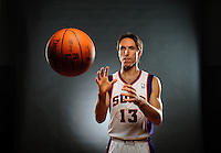 Dec. 16, 2011; Phoenix, AZ, USA; Phoenix Suns guard Steve Nash poses for a portrait during media day at the US Airways Center. Mandatory Credit: Mark J. Rebilas-