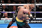 24th March 2018, O2 Arena, London, England; Matchroom Boxing, WBC Silver Heavyweight Title, Dillian Whyte versus Lucas Browne; Dillian Whyte lands a hard over hand right to Lucas Browne sending his head back