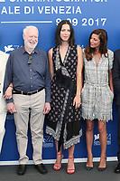 David Stratton, Anna Mouglalis, Rebecca Hall at the &quot;Venezia 74&quot; jury  photocall, 74th Venice Film Festival in Italy on 30 August 2017.<br /> <br /> Photo: Kristina Afanasyeva/Featureflash/SilverHub<br /> 0208 004 5359<br /> sales@silverhubmedia.com