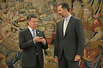 20141103 King Felipe VI Meets Juan Manuel Santos