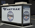 Amtrak Train system baggage counter at Stockton Railway Station