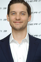 """TOBEY MAGUIRE .Photocall for """"Spider-Man 3"""" held at the Hotel Excelsior, Rome, Italy..April 24th, 2007.headshot portrait stubble facial hair .CAP/CAV.©Luca Cavallari/Capital Pictures"""
