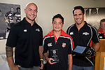 Roller Mills Most Improved Player of the Year Arlee Ratu with DJ Forbes & Chad Tuoro. Counties Manukau Rugby Union Junior representative prize giving held at Growers Stadium on Monday October 20th 2008.