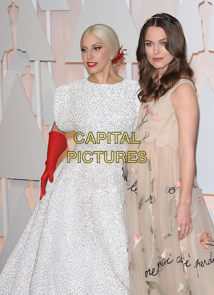 22 February 2015 - Hollywood, California - Lady Gaga, Keira Knightley. 87th Annual Academy Awards presented by the Academy of Motion Picture Arts and Sciences held at the Dolby Theatre. <br /> CAP/ADM<br /> &copy;AdMedia/Capital Pictures Oscars