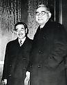 Undated - Saburo Kurusu and Kichisaburo Nomura in Washington, November, 1941.  (Photo by Kingendai Photo Library/AFLO)